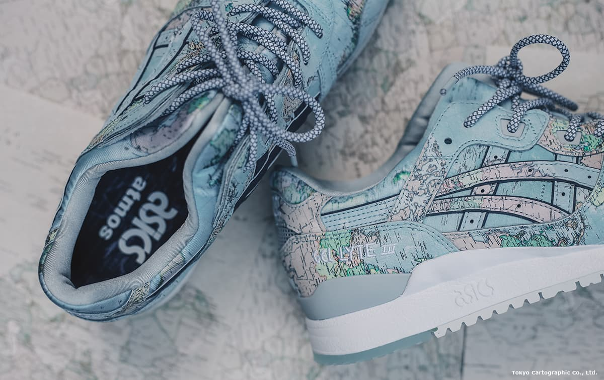 ASICSTIGER GEL-LYTE III WORLD MAP