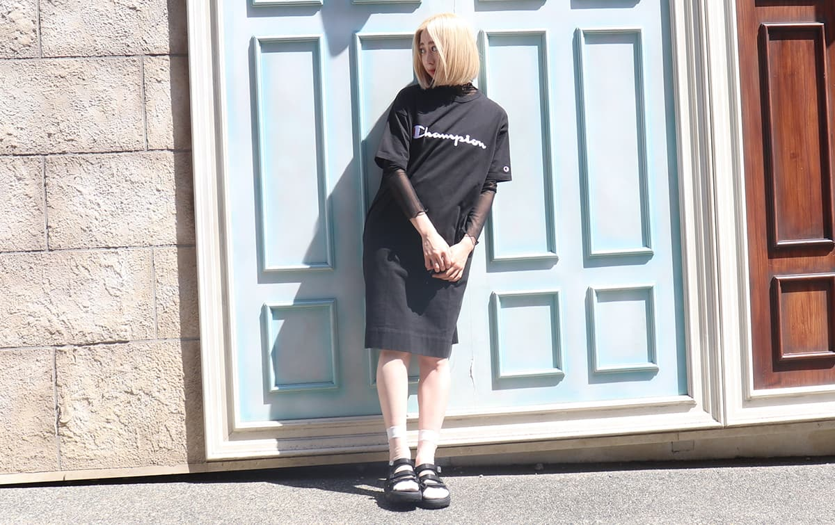 Champion 19SS coordinate by atmos pink