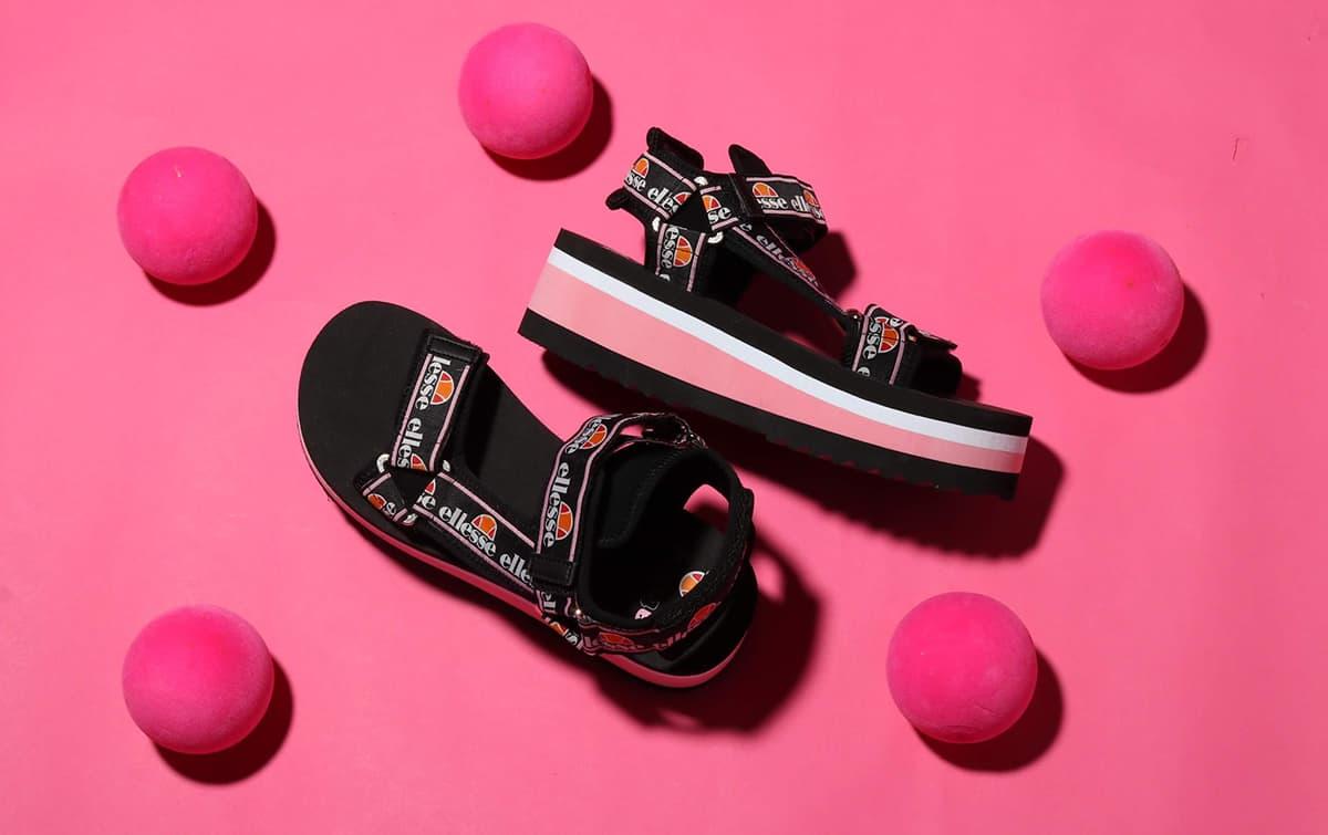 ellesse Palermo Sandal x atmos pink