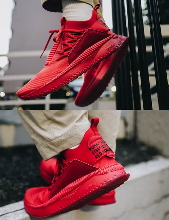 PUMA TSUGI JUN ATMOS RED HORSEMAN スタイリング002