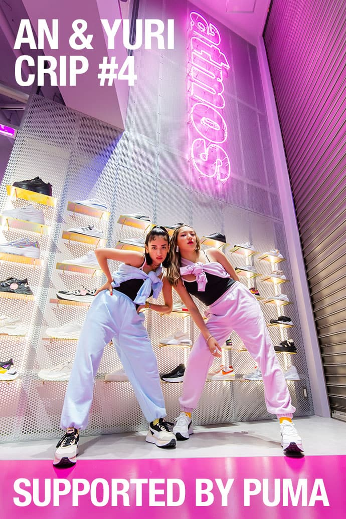 atmos pink AN & YURI crip #4 Supported by PUMA