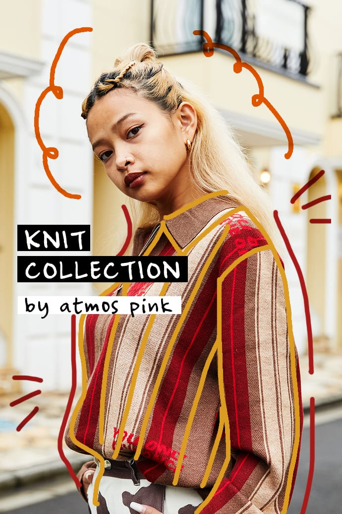 KNIT COLLECTION byatmos pink