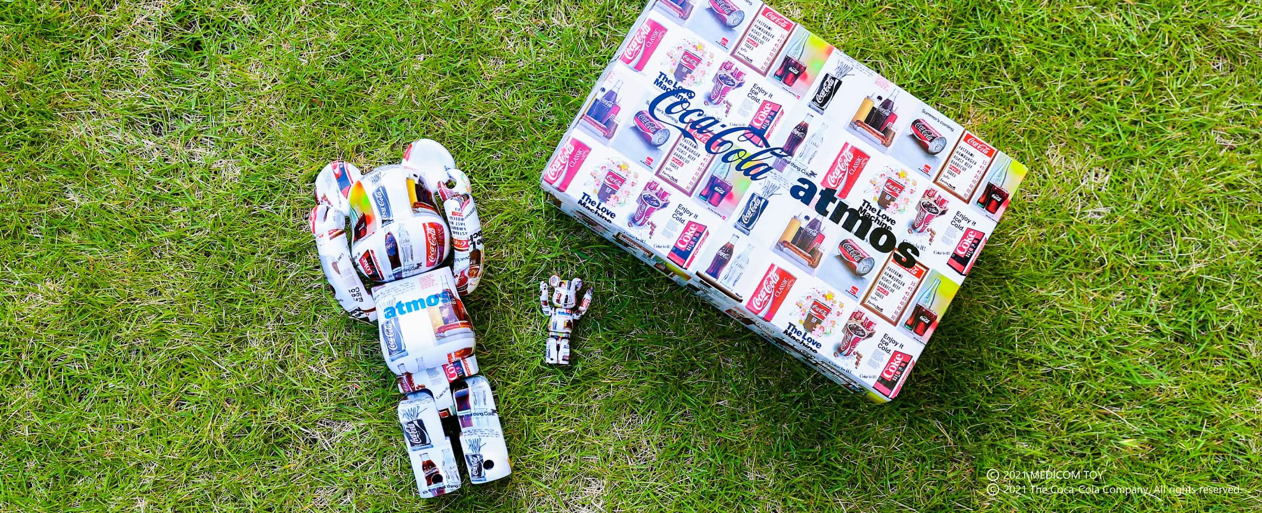 MEDICOM TOY BE@RBRICK atmos × Coca-Cola TYPE-5 100% & 400%