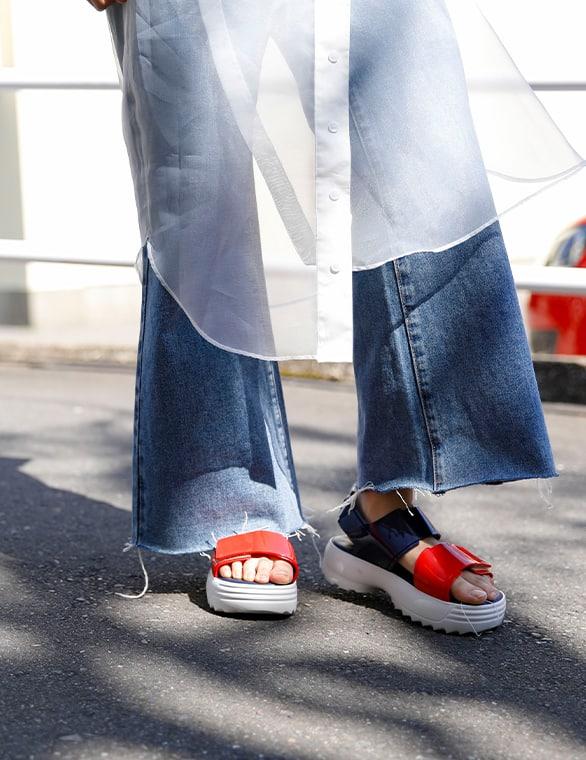 Melissa Sneaker + Fila Ad スタイル