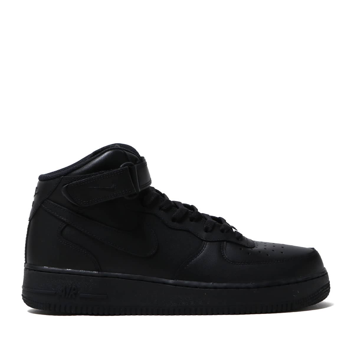 """NIKE AIR FORCE 1 MID '07 BLACK/BLACK 18FW-I""_photo_2"