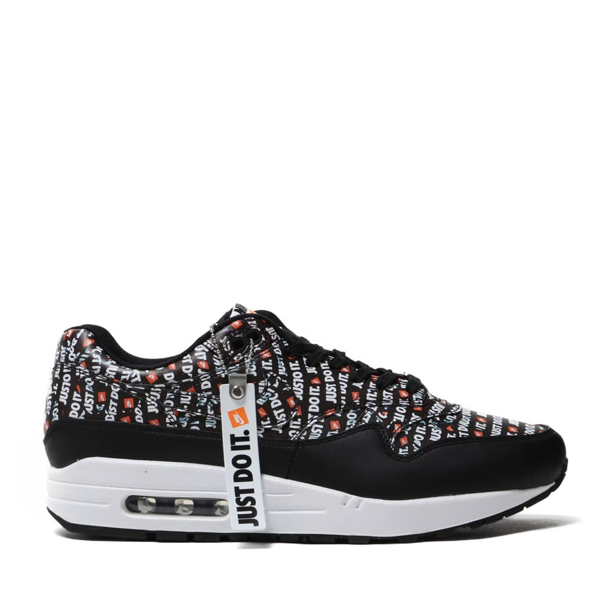 innovative design super popular detailed look Athletic Shoes Mens Nike Air Max 1 Premium Just Do It Black Total ...