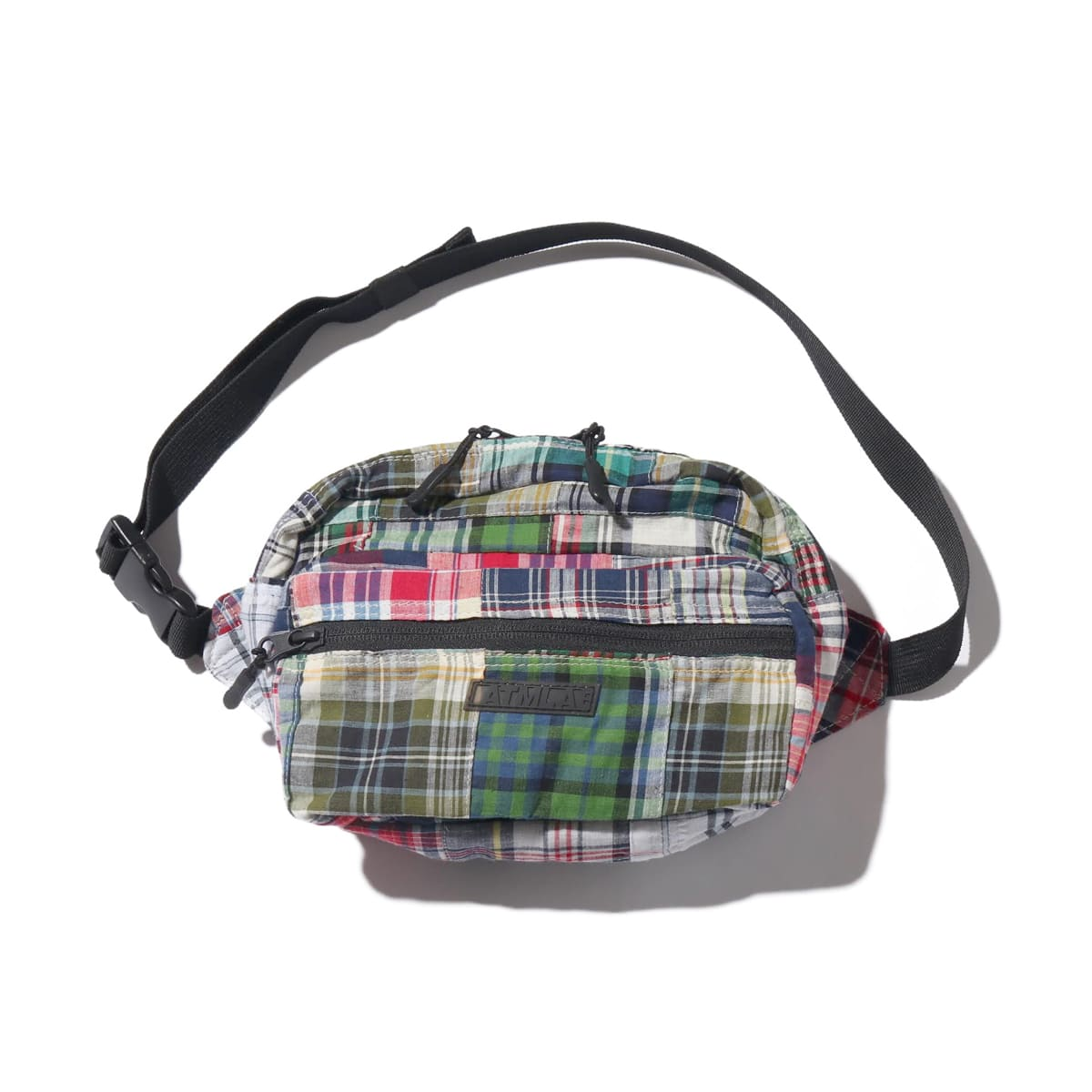 """ATMOS LAB PATCHWORK WAIIST BAG BLACK 19SP-I""_photo_2"