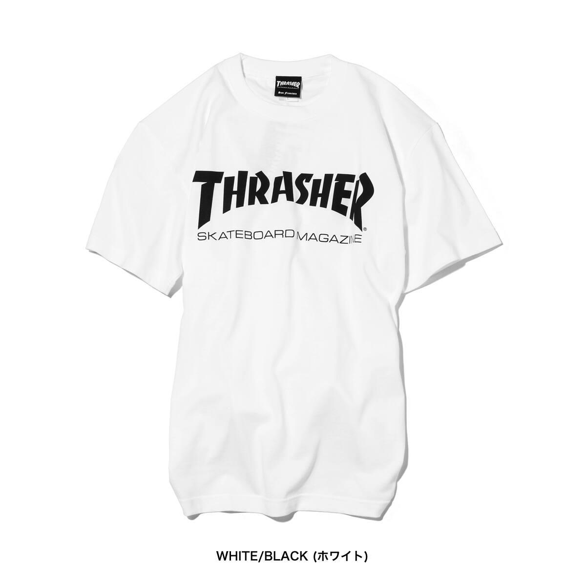 """THRASHER MAG LOGO T-SHIRTWHITE/BLACK/RED 18FW-I""_photo_2"