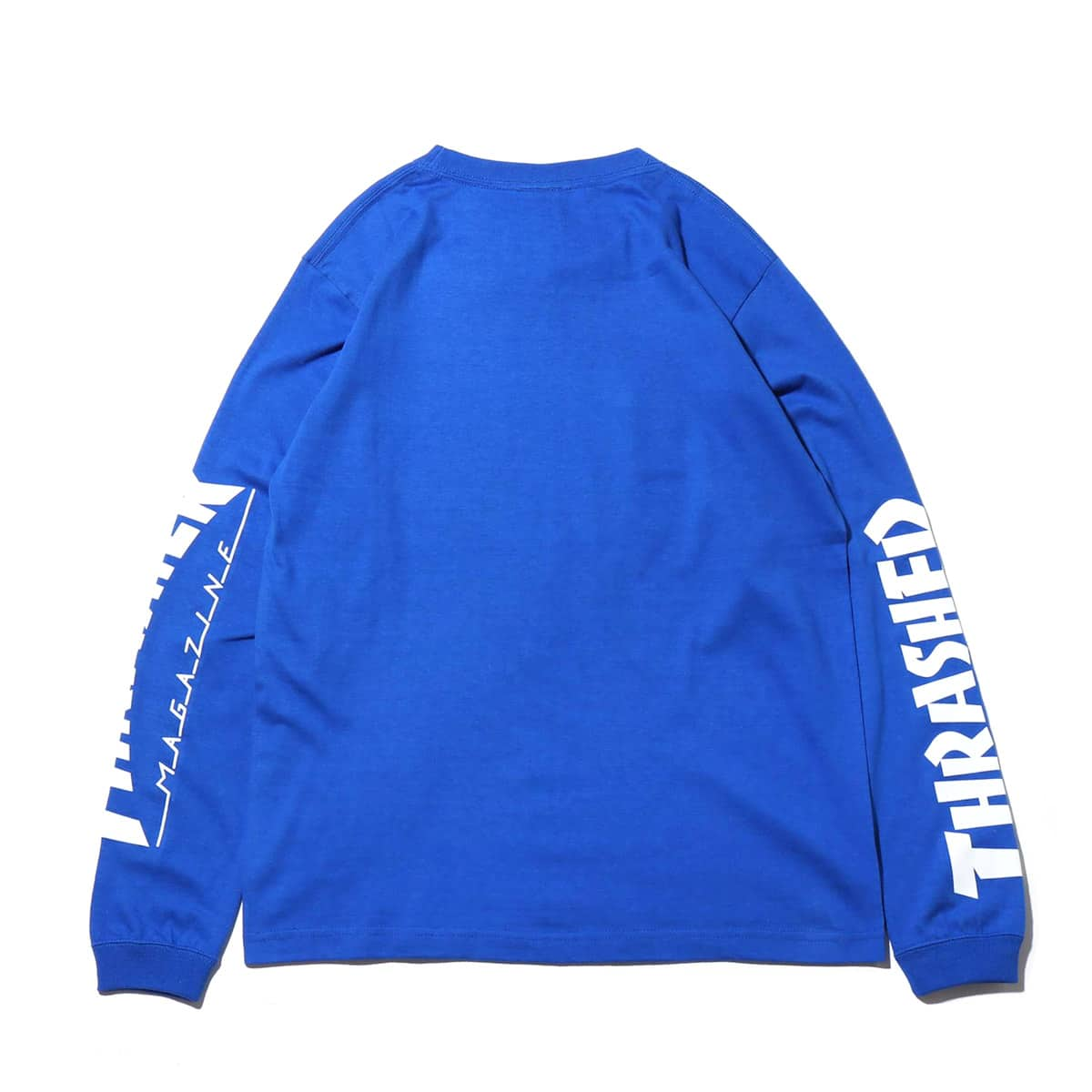 """THRASHER MAG SLEEVE L/S TEE ROYAL/WHITE 19SS-I""_photo_2"