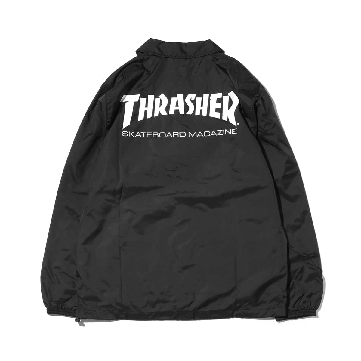 """THRASHER MAG LOGO COACH JACKETBLACK/BURGUNDY 18FW-I""_photo_2"