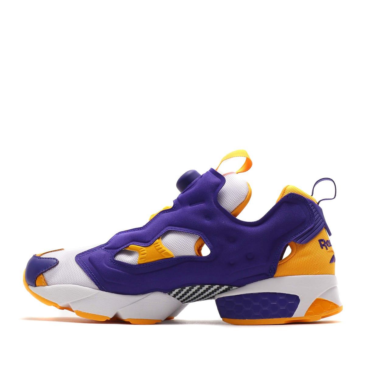 Reebok Insta Pump Fury OG MU White Purple Yellow Men Running Shoe Sneaker DV8291