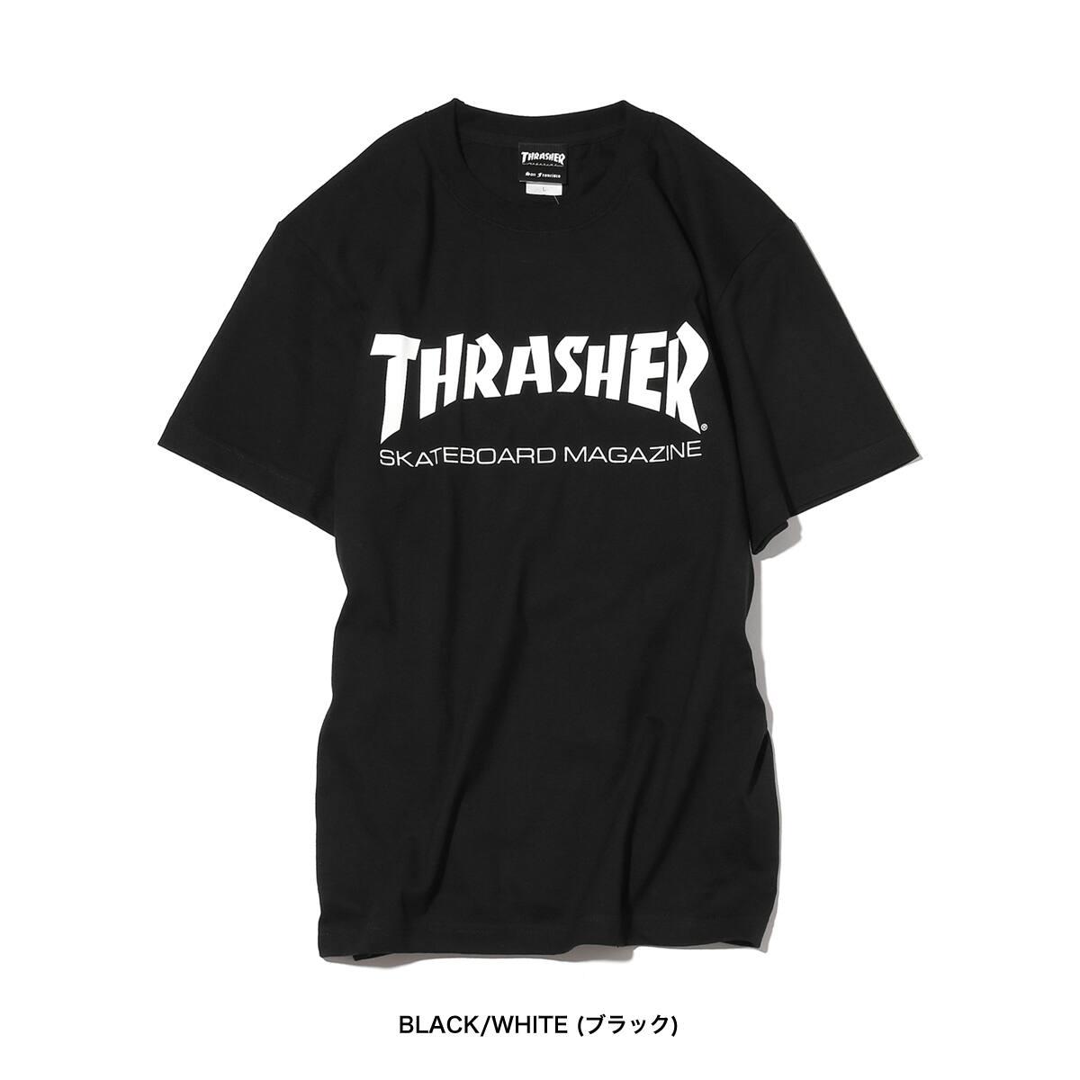 """THRASHER MAG LOGO T-SHIRTWHITE/BLACK/RED 18FW-I""_photo_3"