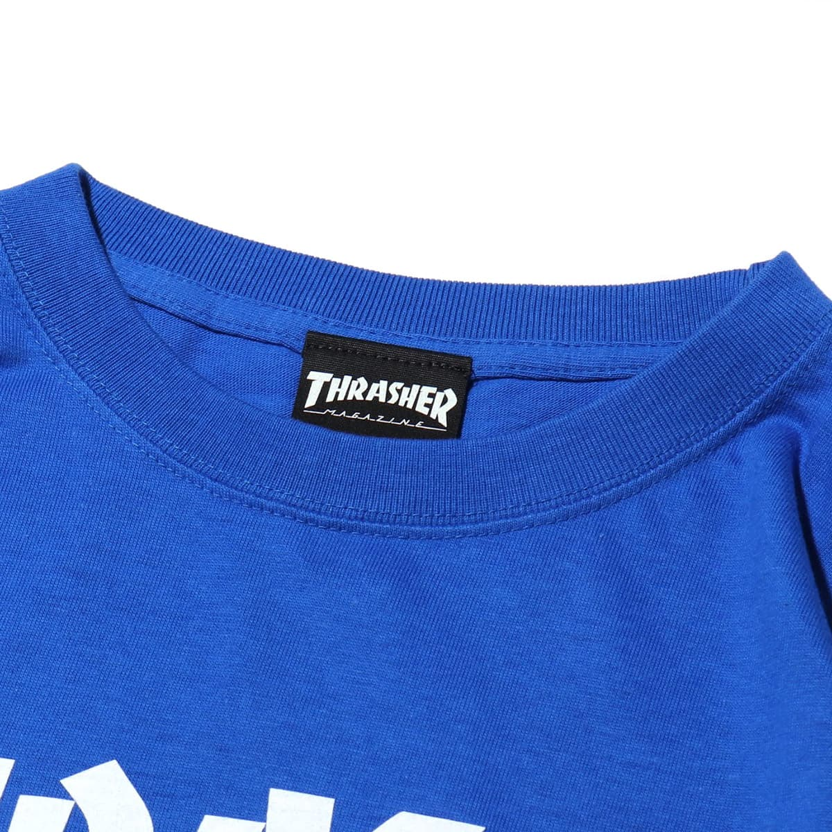 """THRASHER MAG SLEEVE L/S TEE ROYAL/WHITE 19SS-I""_photo_3"