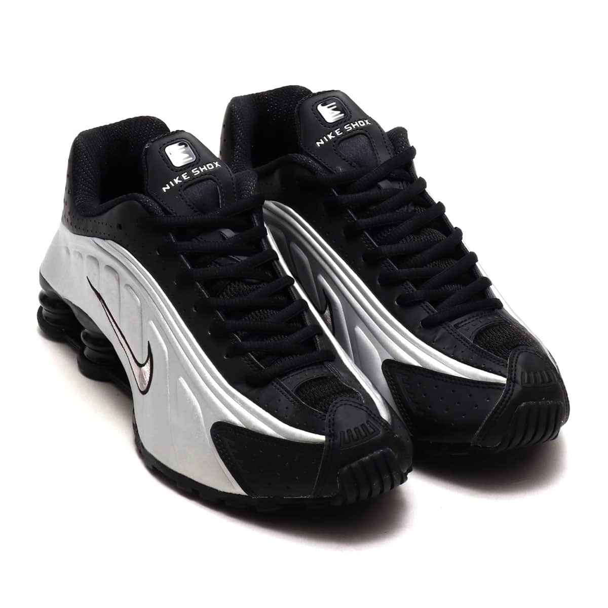 NIKE SHOX R4 BLACK/BLACK-MTLC SLVR-WLF GRY 19SU-S_photo_large