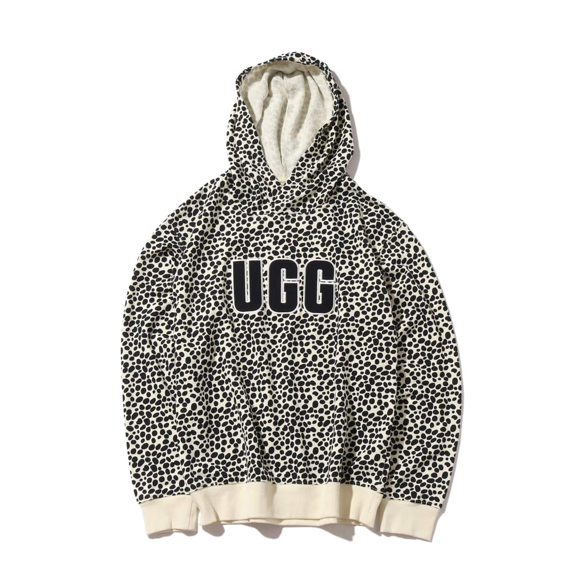 UGG Logo Hoodie Sweatshirt Print OFF WHITE/ BLACK 20SS-S_photo_large