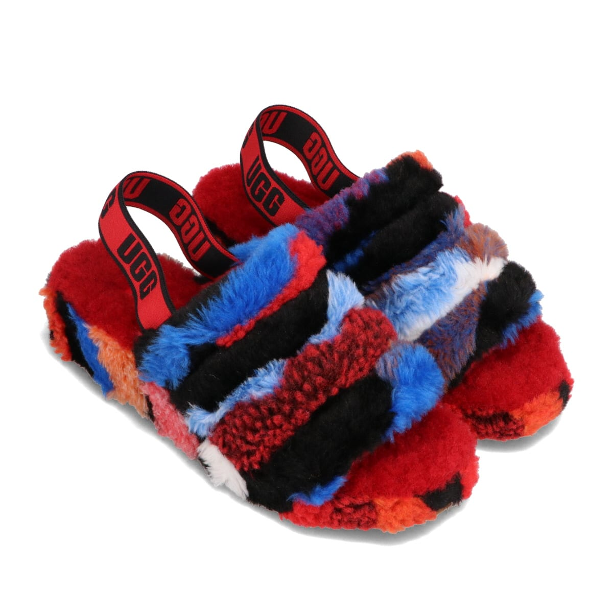 UGG Fluff Yeah Slide Cali Collage RED 21SS-I_photo_large