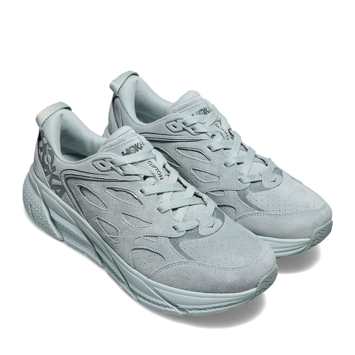 HOKA ONEONE M CLIFTON L SUEDE GREY MIST / MISTY BLUE 21SS-I_photo_large