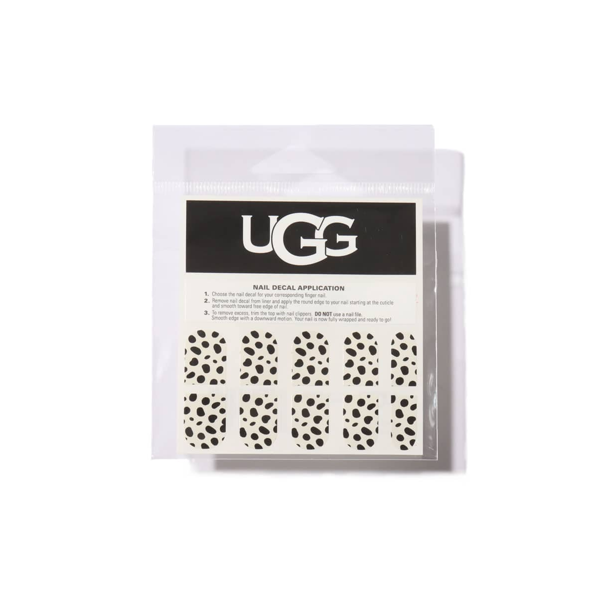 UGG Dalmatian Nail Sticker BLACK/WHITE 20FW-S_photo_large