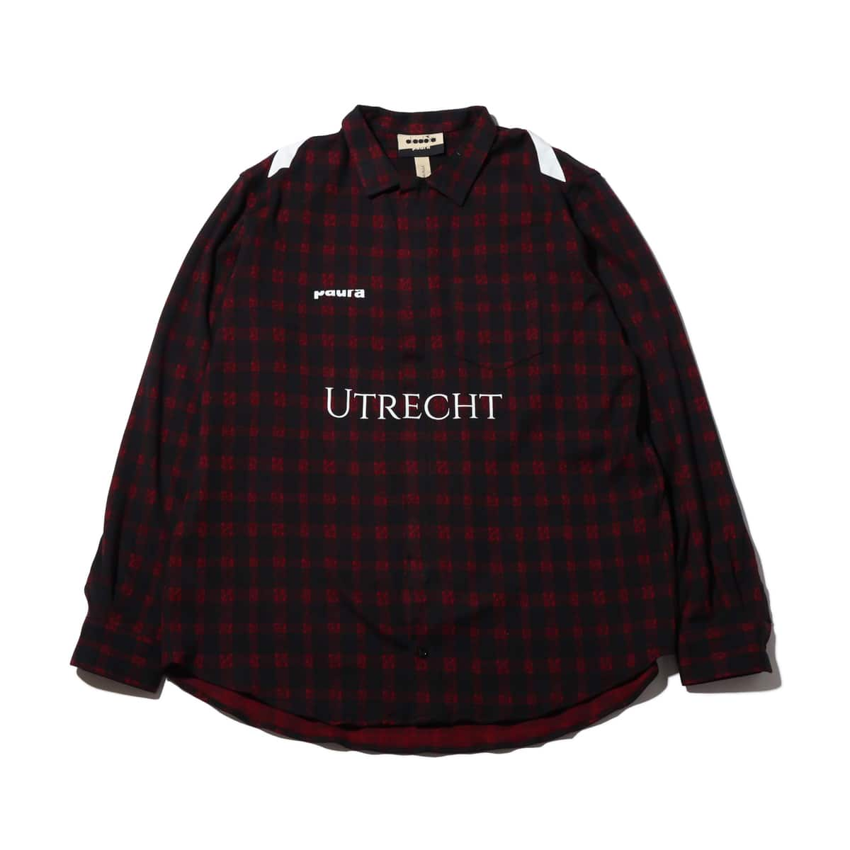 DIADORA FLANNEL SHIRT 9 BLACK/TRUE RED 19FA-I_photo_large