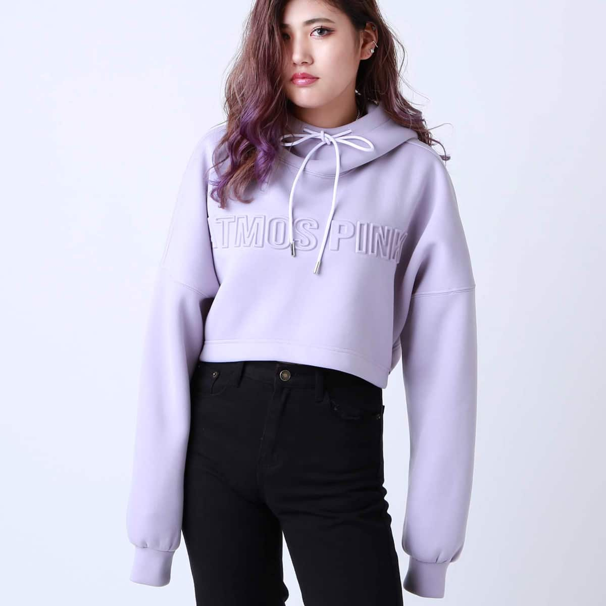 atmos pink エンボス フーディー PURPLE 19FA-I_photo_large