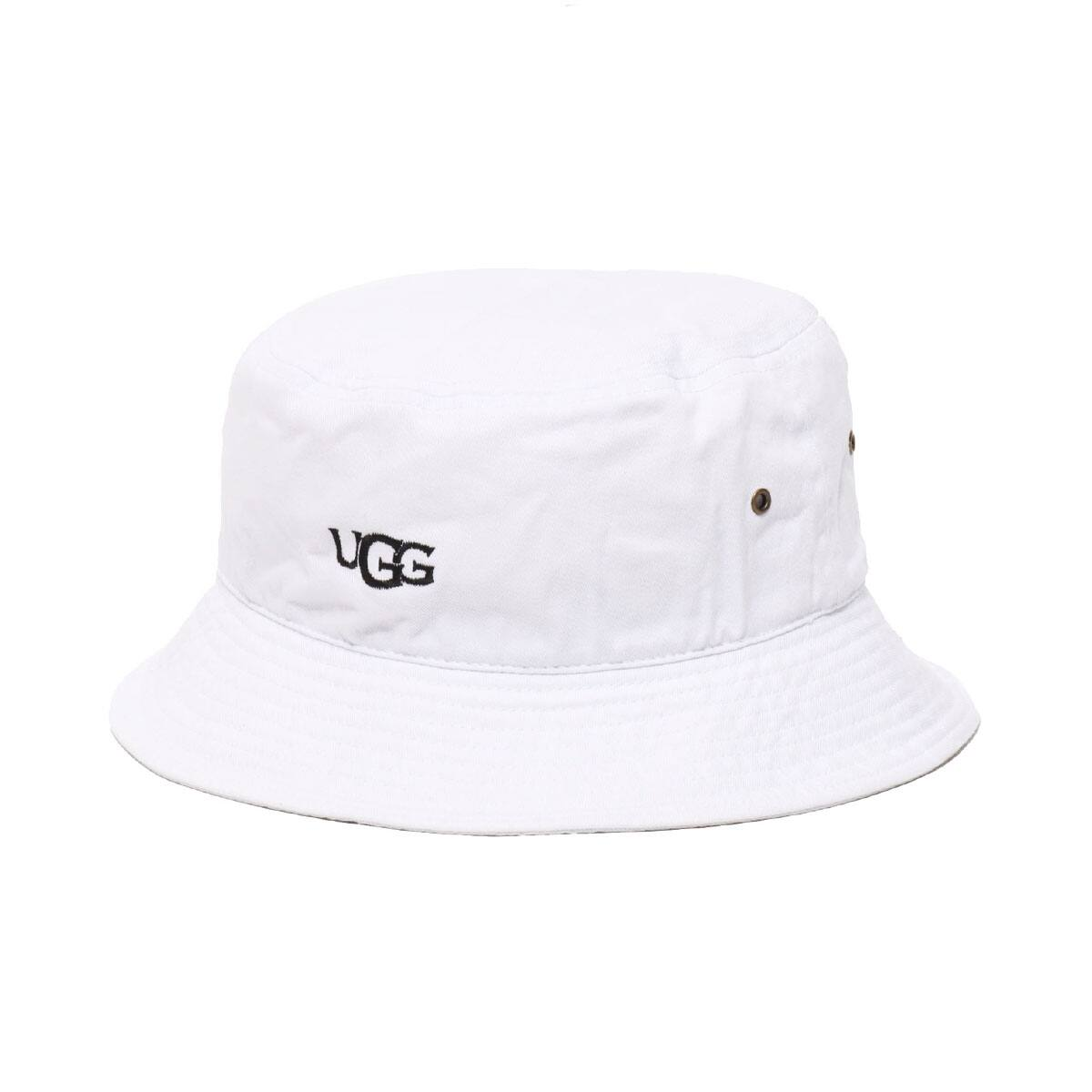 UGG UGG LOGO BUCKET HAT WHITE 20SS-I_photo_large