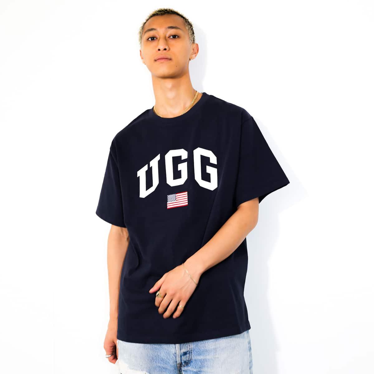 UGG US 刺繍ロゴ Tシャツ NAVY 21FW-I_photo_large