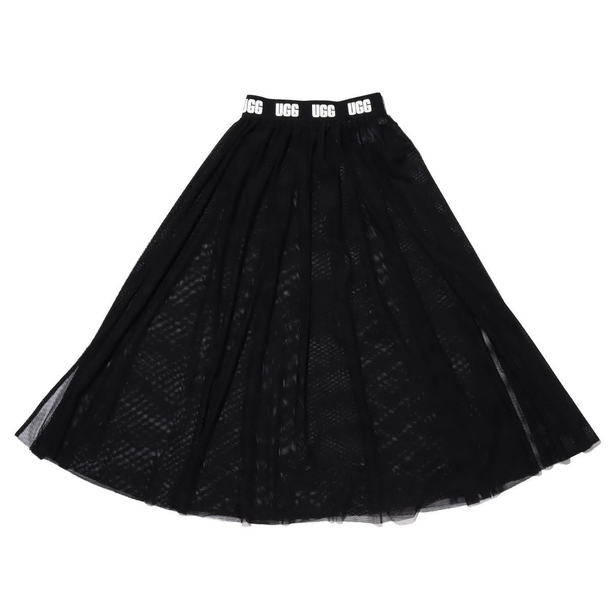 UGG メッシュ ロングスカート BLACK 20SS-I_photo_large