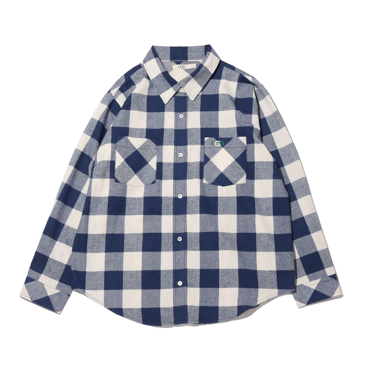 UGG チェックシャツ NAVY 21SS-I_photo_large