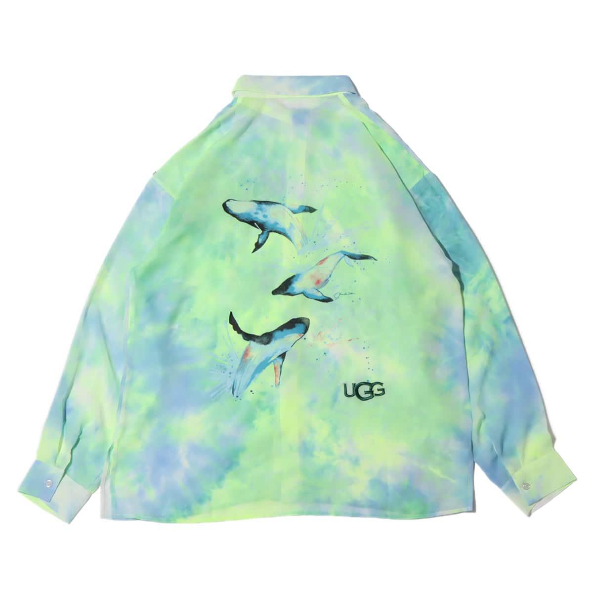 UGG×伊東楓 グラフィック タイダイシースルーシャツ GREEN 21FW-I_photo_large