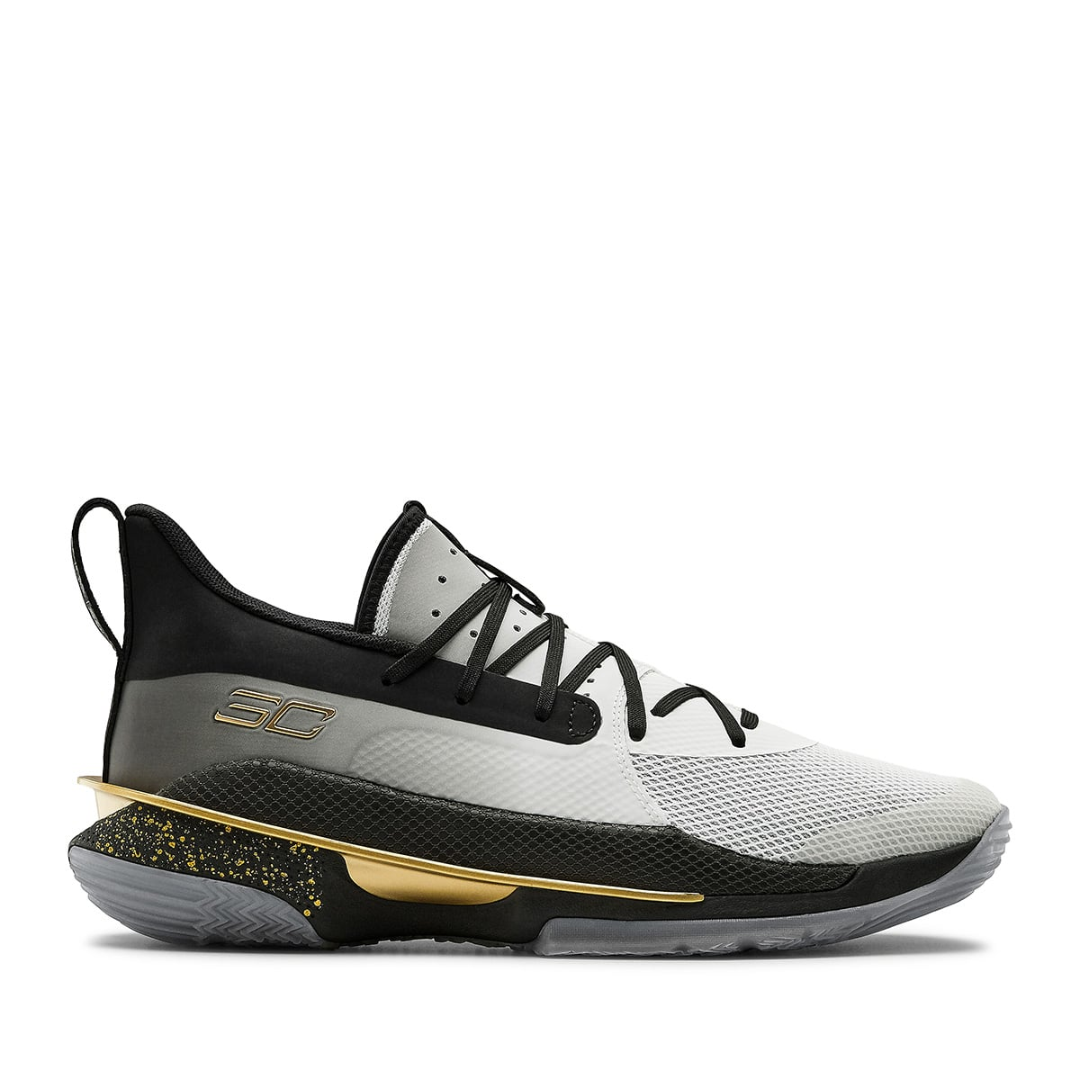 """UNDER ARMOUR Curry 7 """"FOR THE GAME"""" WHITE/BLACK/GOLD 20SU-S_photo_large"""