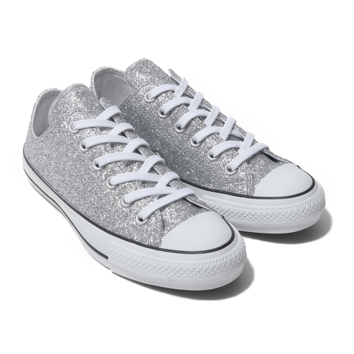 CONVERSE ALL STAR 100 GLITTER OX SILVER 19FA-S_photo_large