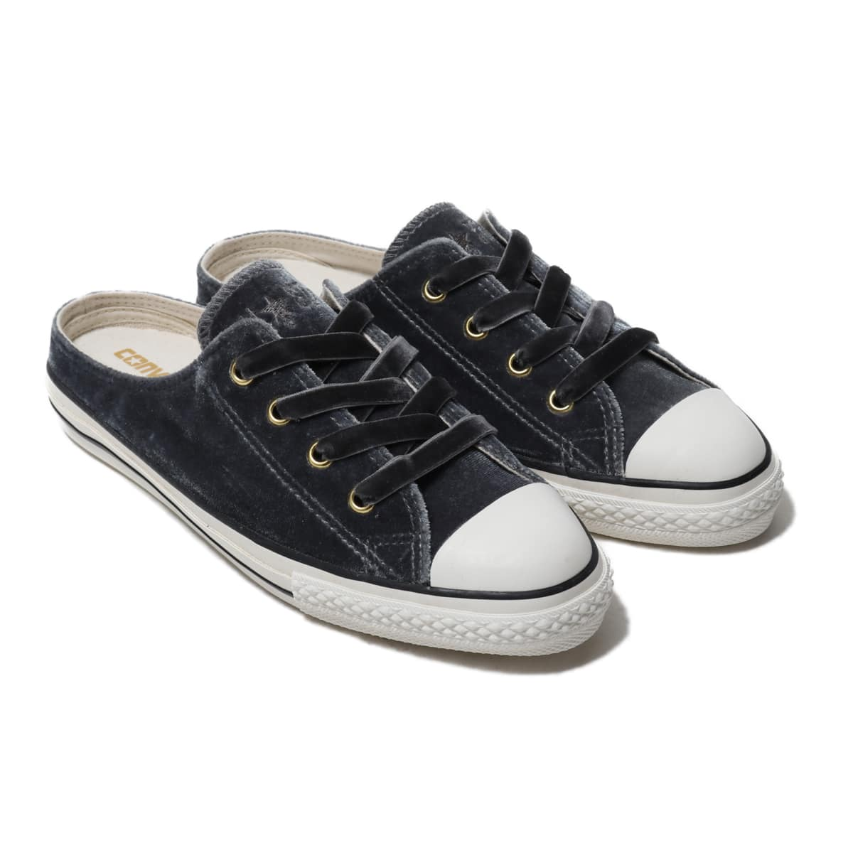 CONVERSE ALL STAR S VELVET MULE OX CHARCOAL 19HO-I_photo_large