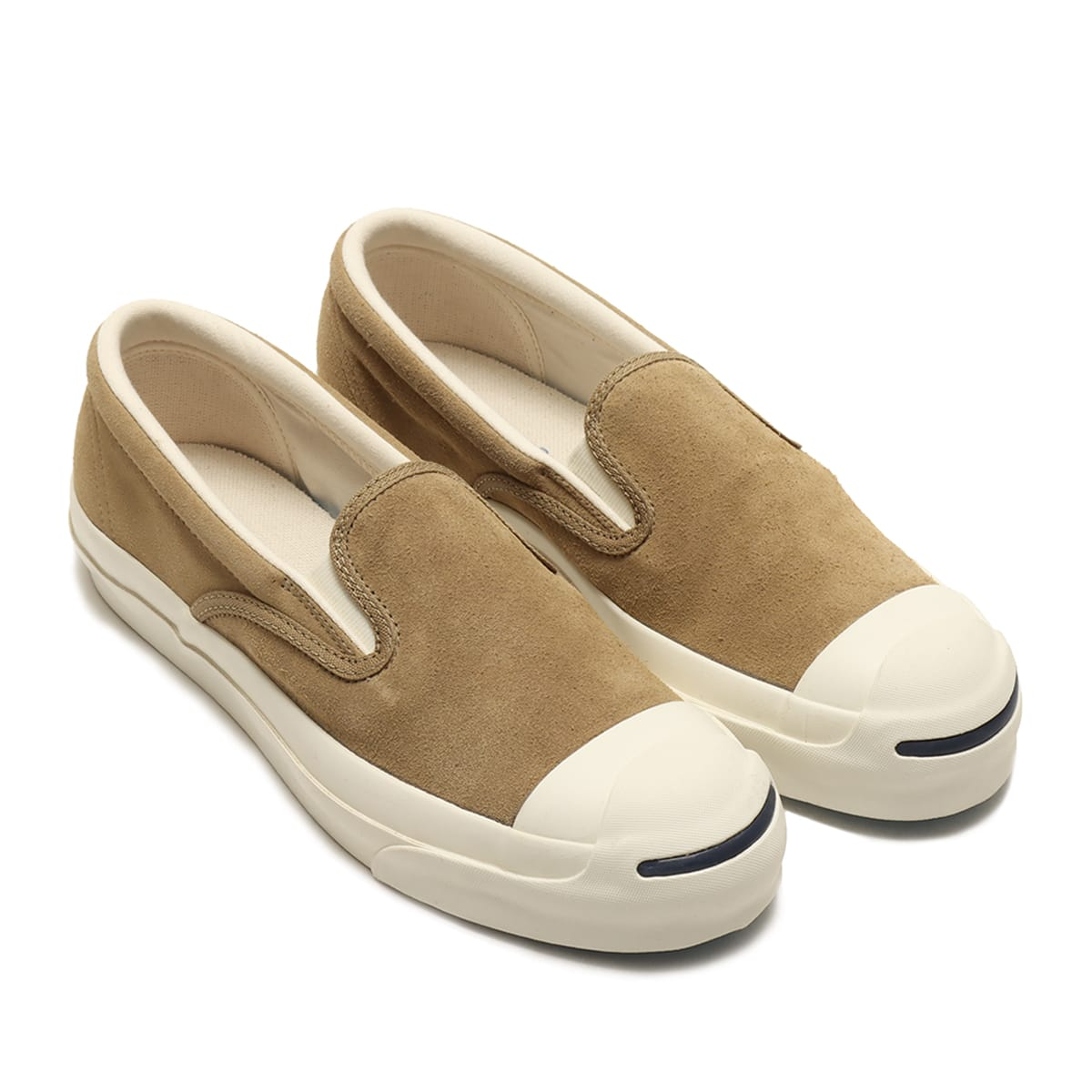 CONVERSE JACK PURCELL RET SUEDE SLIP-ON BIEGE 21SS-I_photo_large