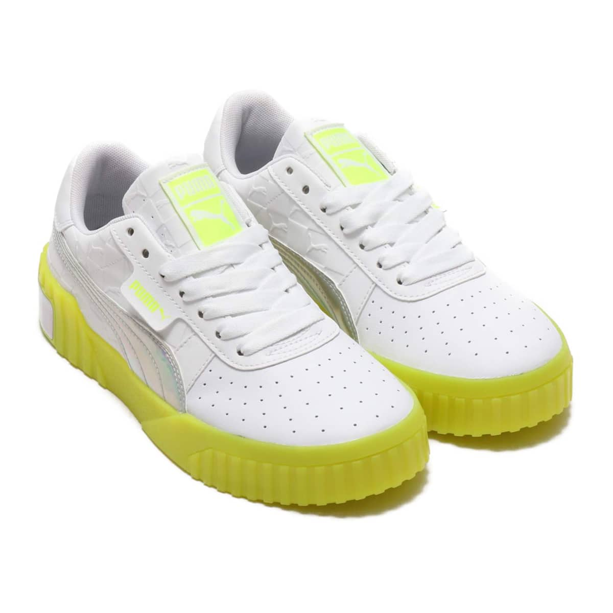 PUMA CALI WMNS x ATMOS  PUMA WHITE-SAFETY YELLOW 19SP-I_photo_large