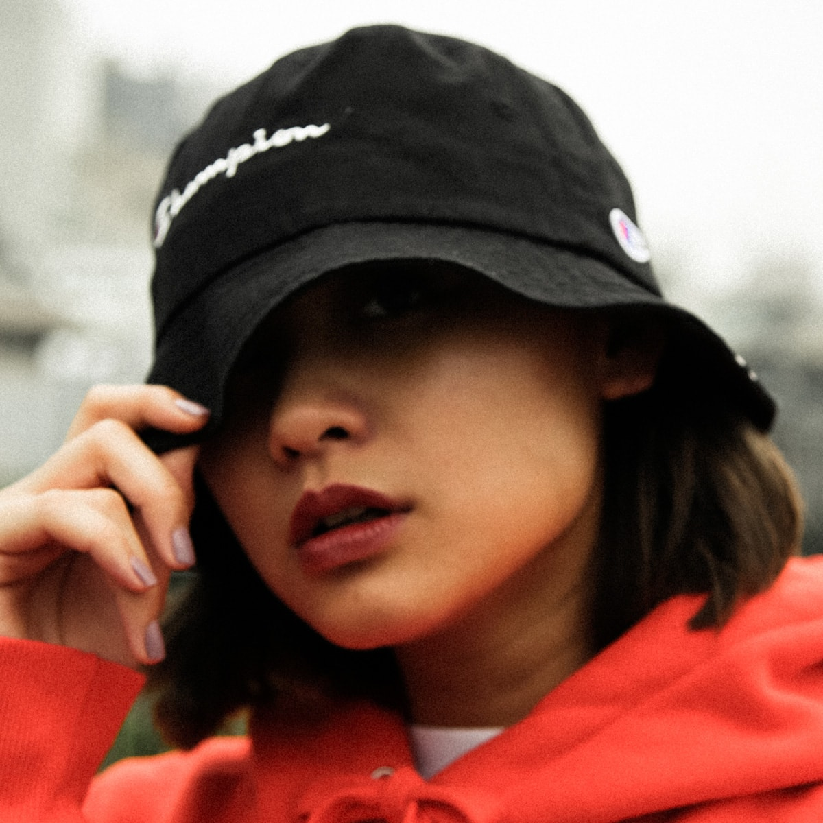 CHAMPION x ATMOS LAB BUCKET HAT BLACK 18FW-I_photo_large