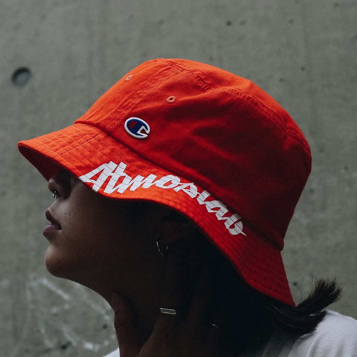 CHAMPION x ATMOS LAB BUCKET HAT ORANGE 18FW-I_photo_large