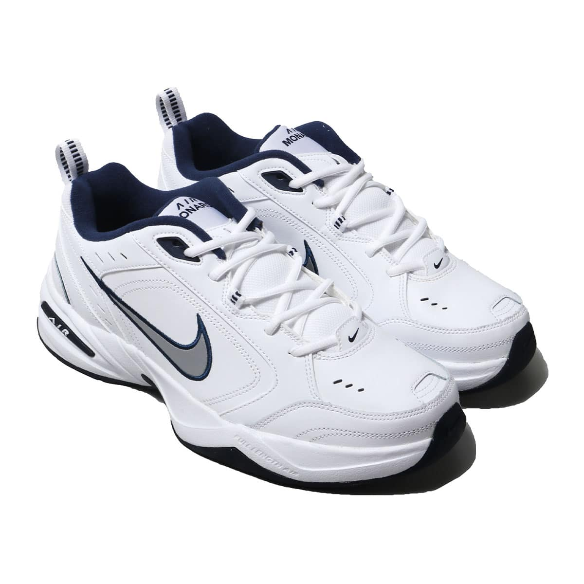 NIKE AIR MONARCH IV WHITE/METALLIC SILVER 18HO-I_photo_large