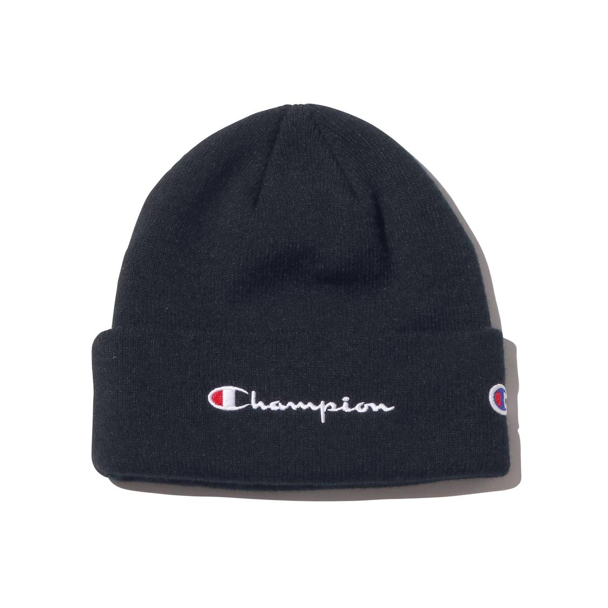 CHAMPION x ATMOS LAB KNIT CAP BLACK 18FW-I_photo_large