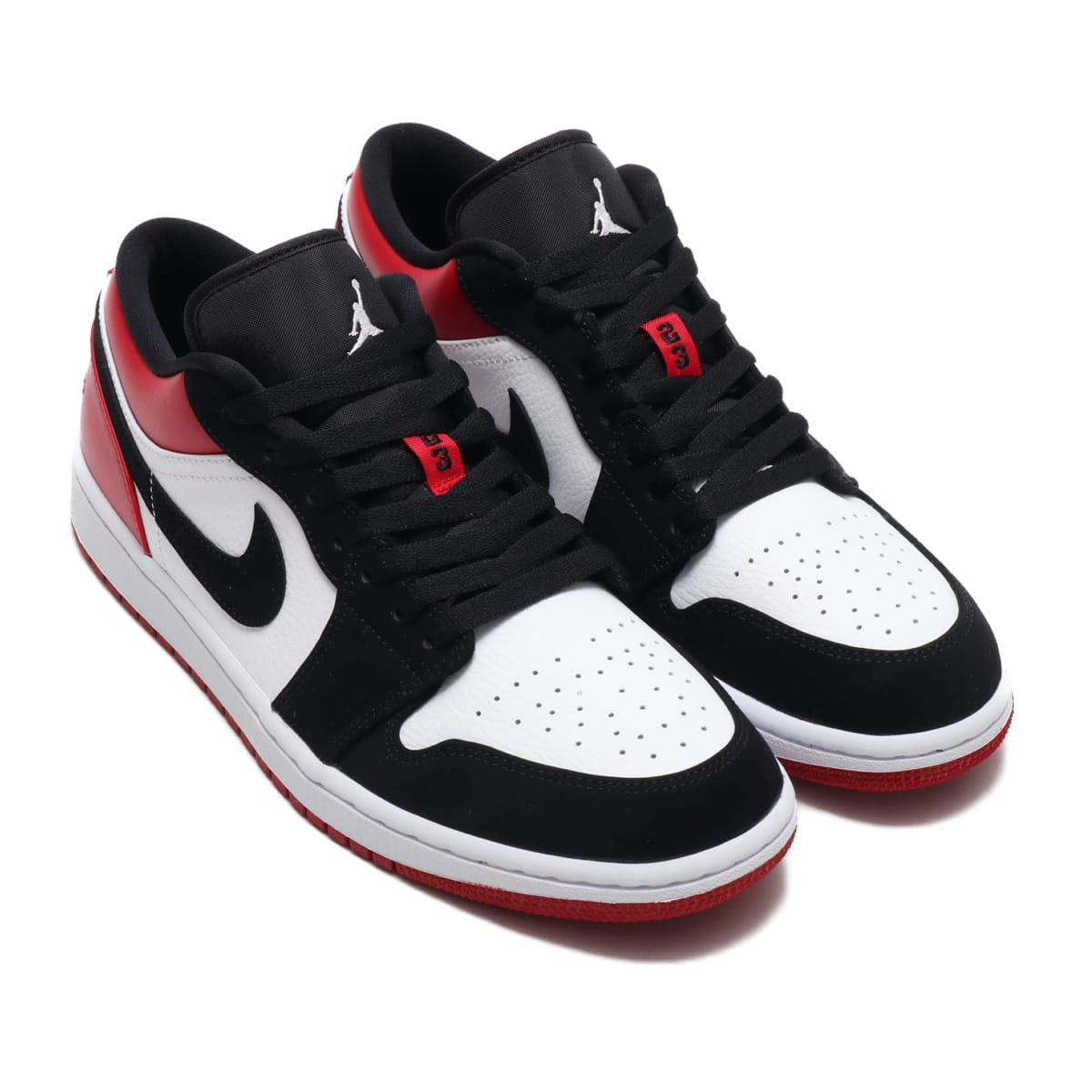 NIKE AIR JORDAN 1 LOW WHITE/BLACK-GYM RED 19HO-S_photo_large