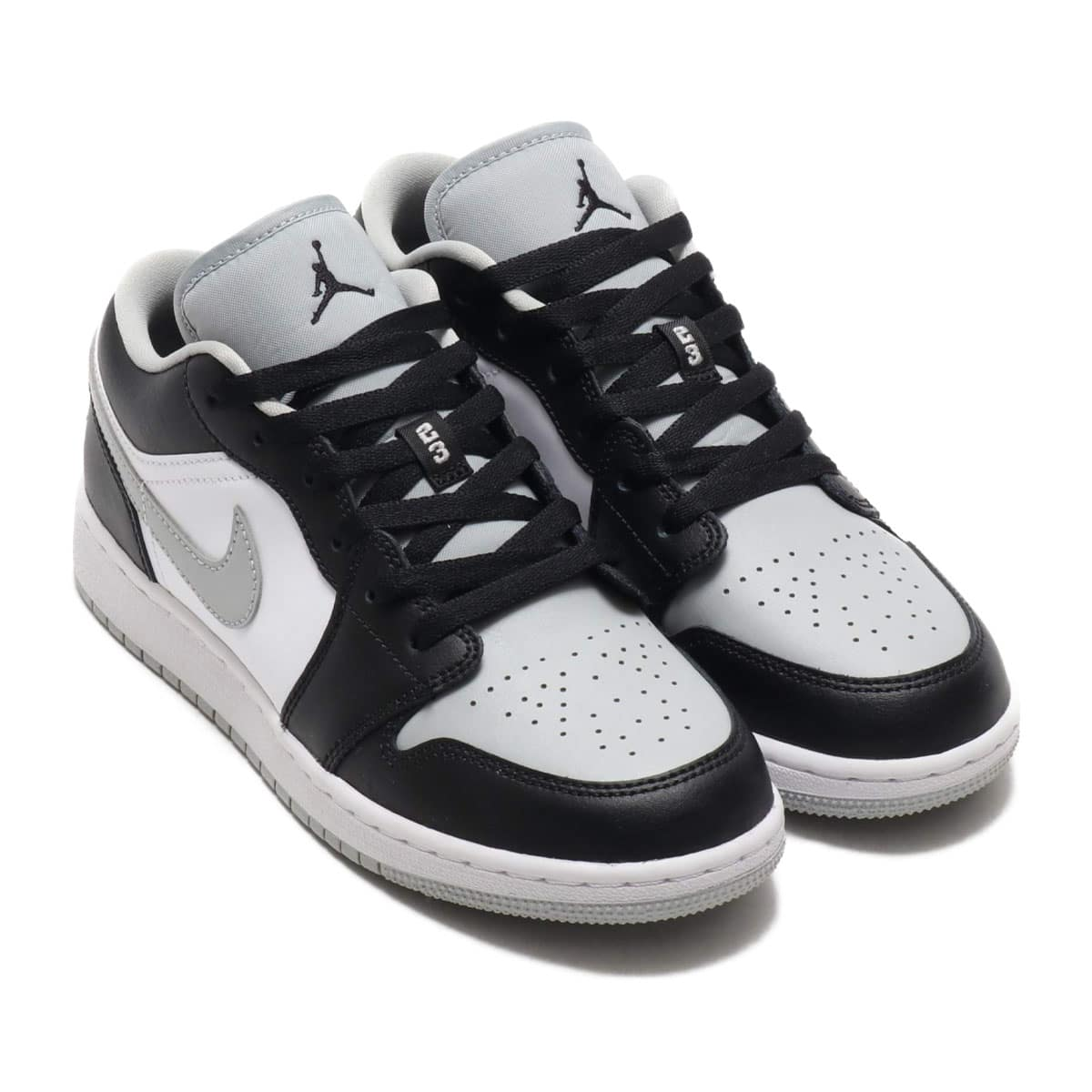JORDAN BRAND AIR JORDAN 1 LOW (GS) BLACK/BLACK-LT SMOKE GREY-WHITE 20SU-S_photo_large