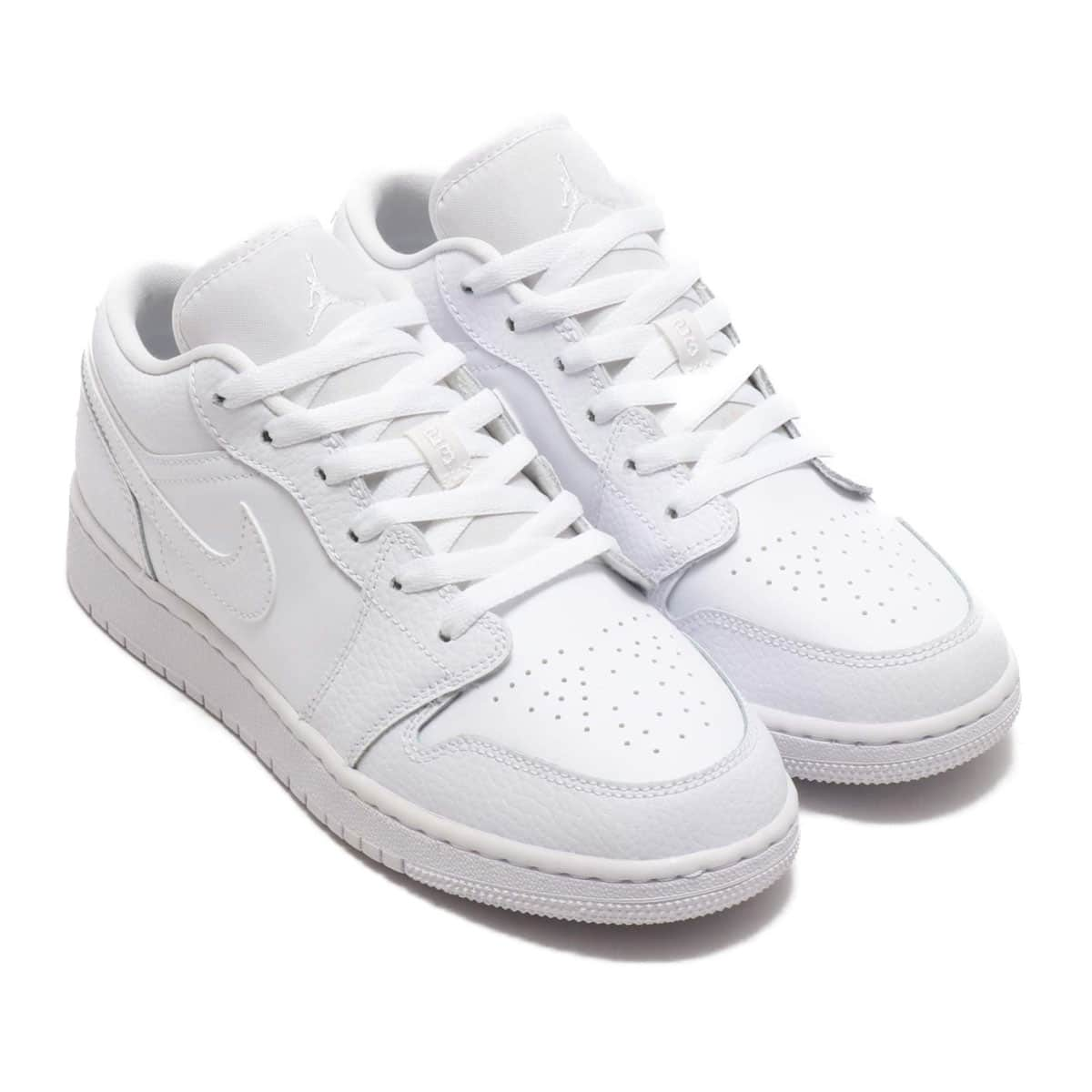 JORDAN BRAND AIR JORDAN 1 LOW (GS) WHITE/WHITE-WHITE 20SU-S_photo_large