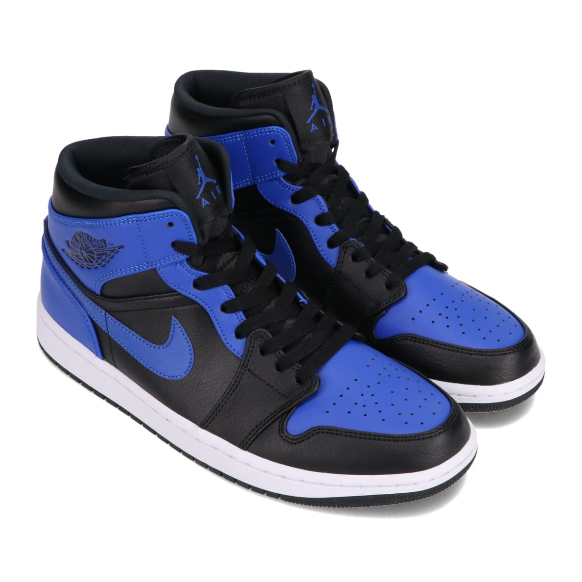 JORDAN BRAND AIR JORDAN 1 MID BLACK/HYPER ROYAL-WHITE 21SP-I_photo_large
