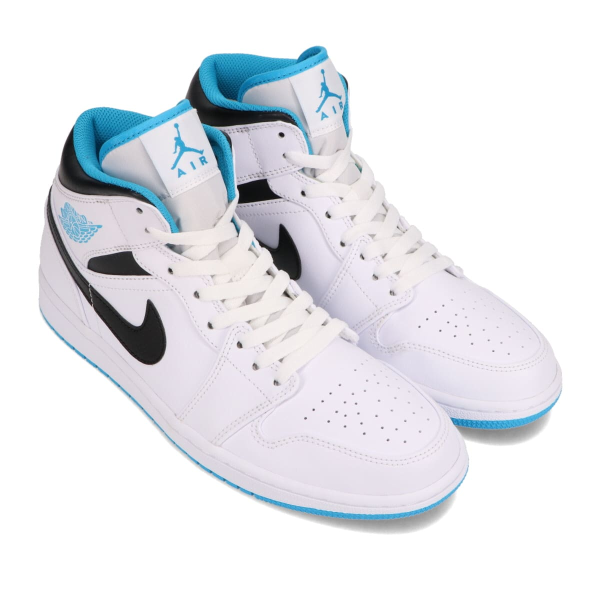 JORDAN BRAND AIR JORDAN 1 MID WHITE/LASER BLUE-BLACK 20HO-I_photo_large