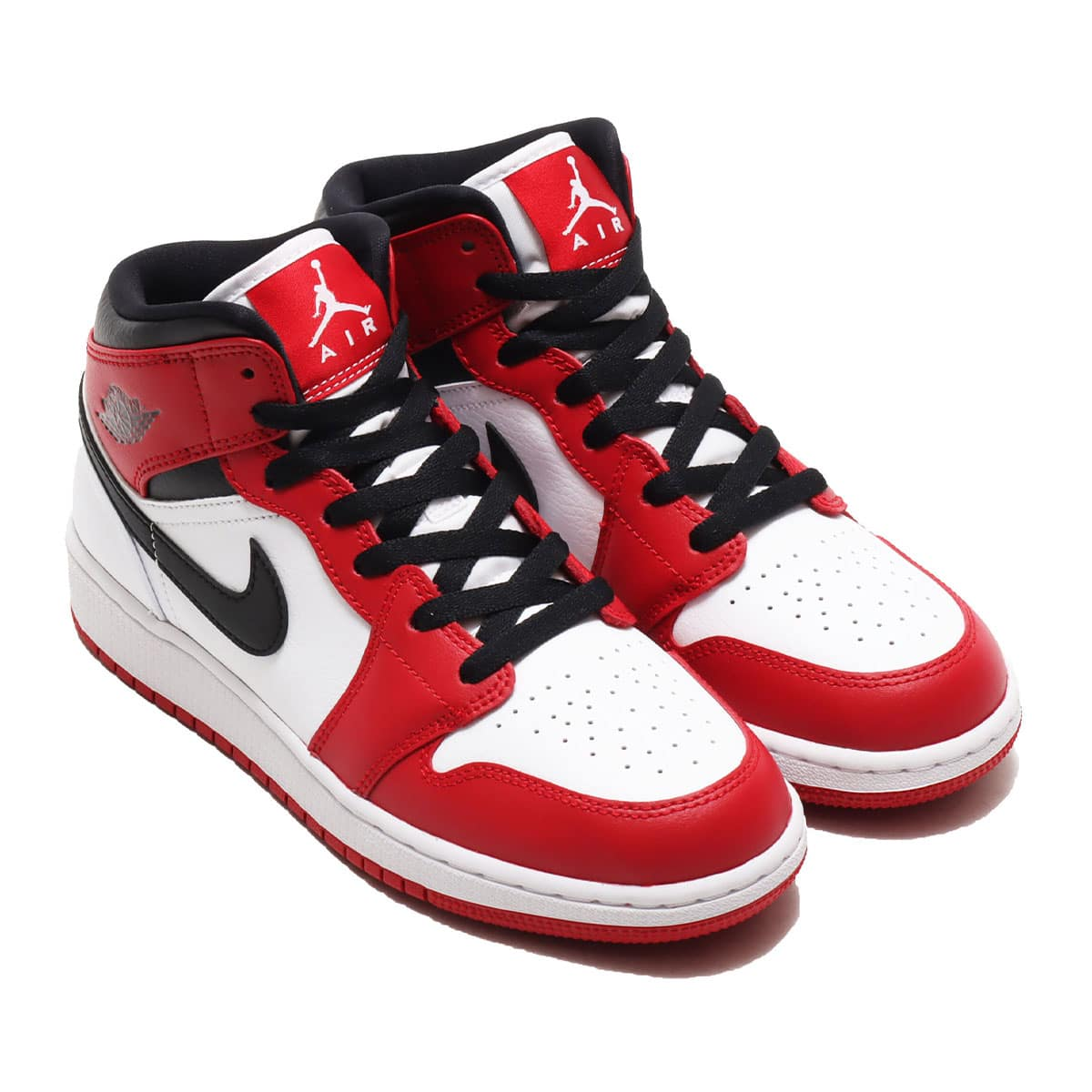 JORDAN BRAND AIR JORDAN 1 MID (GS) WHITE/GYM RED-BLACK 20FA-I_photo_large