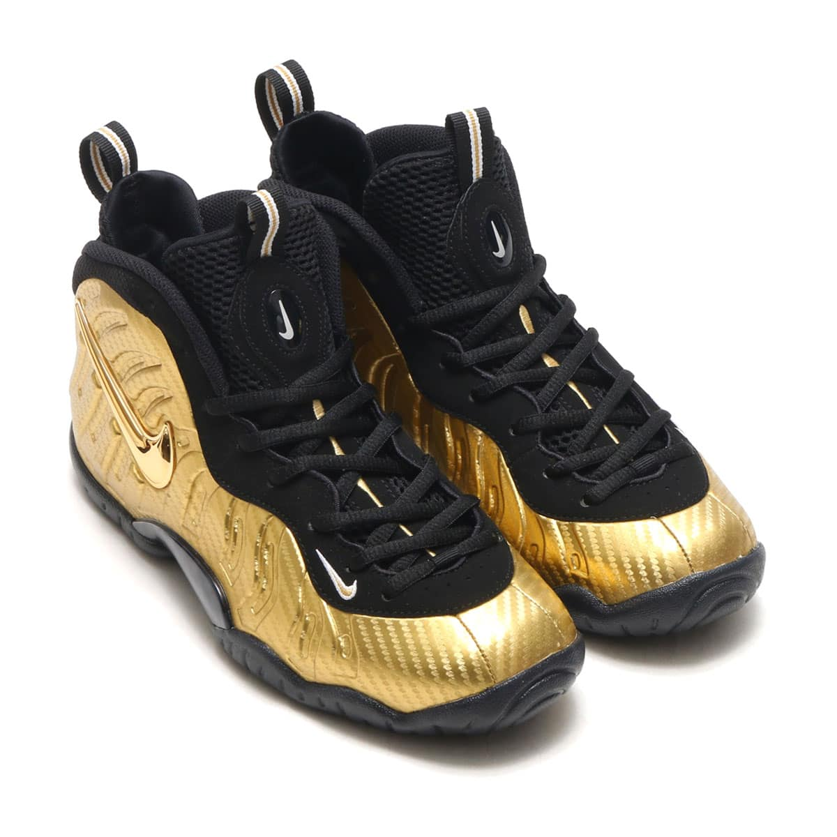 eaa455de8cb NIKE LITTLE POSITE PRO (GS) METALLIC GOLD BLACK-BLACK-WHITE