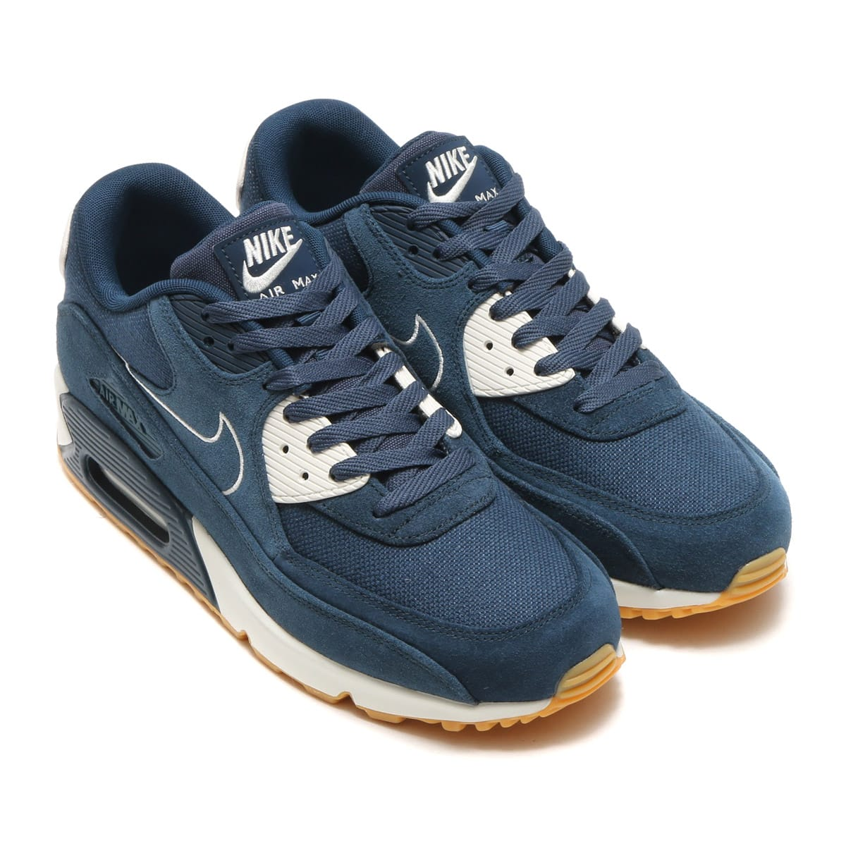 huge discount 60405 b18c1 NIKE AIR MAX 90 PREMIUM ARMORY NAVY/ARMORY NAVY-SAIL-GUM YELLOW