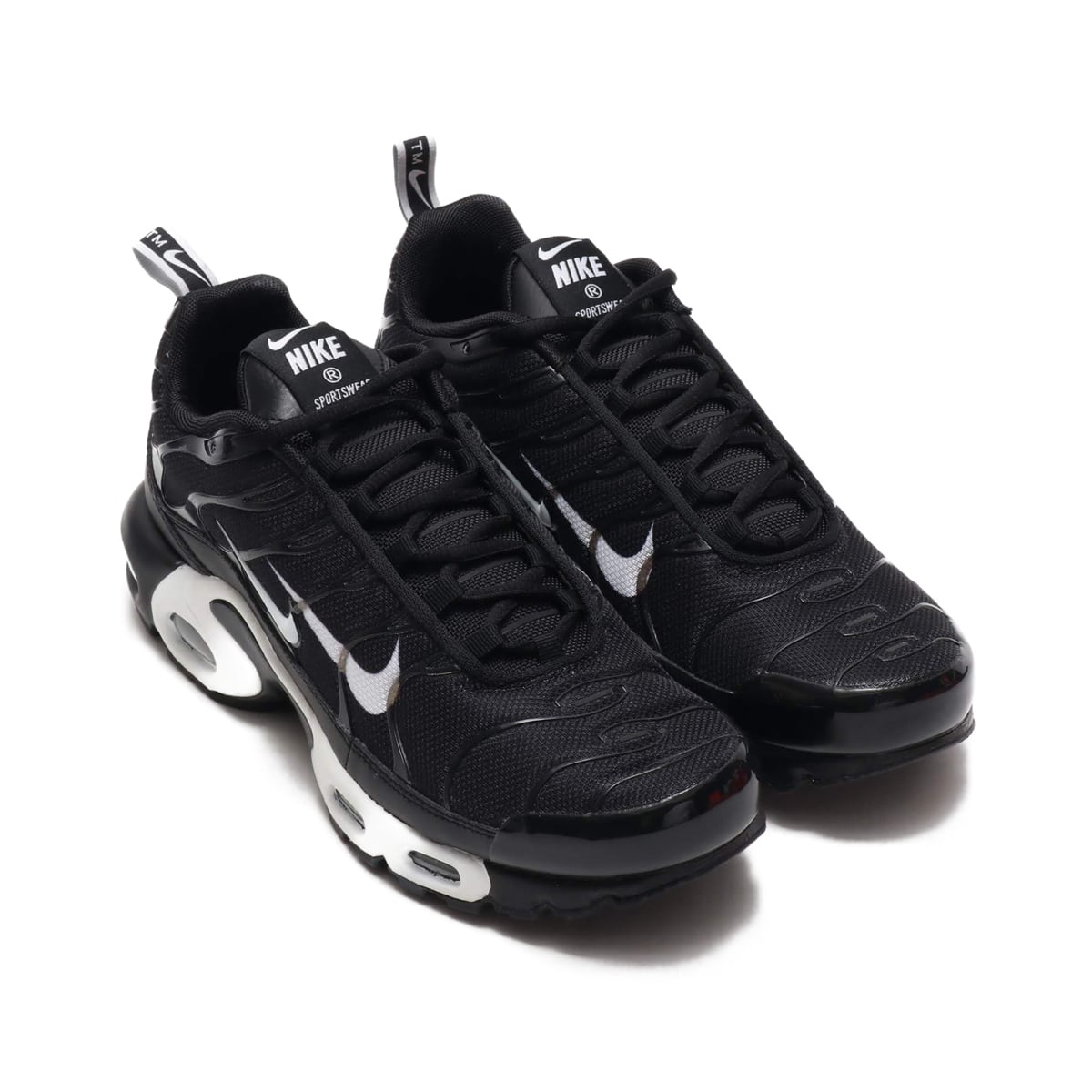 NIKE AIR MAX PLUS PRM  BLACK/WHITE-BLACK 18HO-I_photo_large