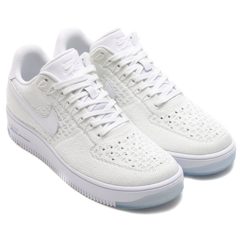 low priced d59e0 5253f NIKE AF1 ULTRA FLYKNIT LOW WHITE/WHITE-ICE