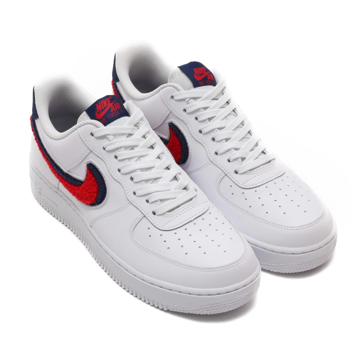 low priced bd0e5 c016a NIKE AIR FORCE 1  07 LV8 WHITE UNIVERSITY RED-BLUE VOID 18FA-I