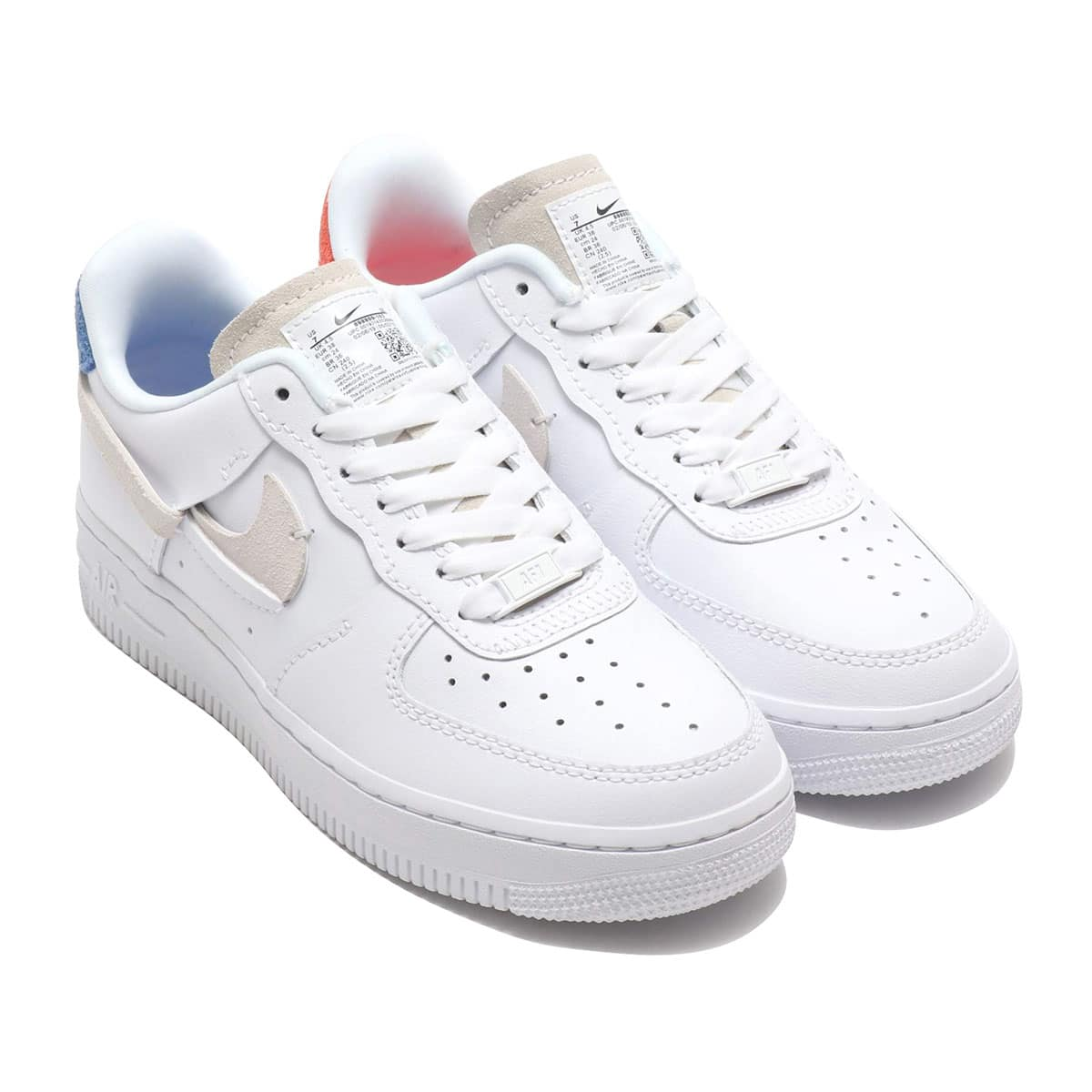NIKE WMNS AIR FORCE 1 07 LX WHITE/PLATINUM TINT-GAME ROYAL 19FA-S_photo_large